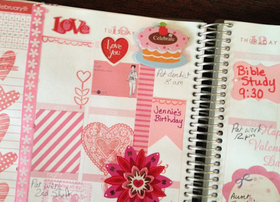 Erin Condren Life Planner  http://www.catheswanson.com Stamps, stickers, 3D elements
