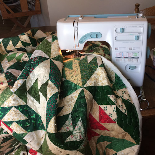 The Christmas Glory Quilt by Cathe Swanson - in the 2018 Christmas Lights Collection, Comfort & Joy