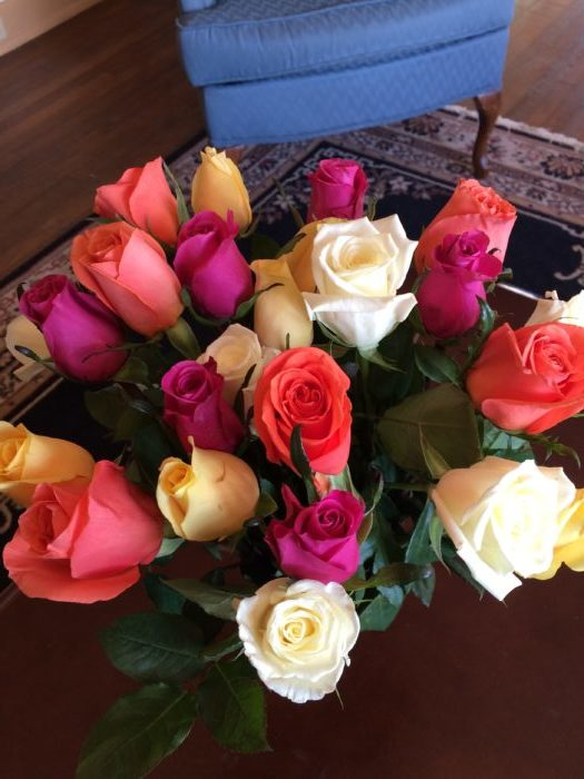 Roses for Valentine's Day and for Baggage Claim