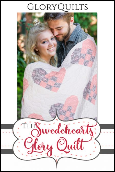 The Swedehearts Glory Quilt Pattern