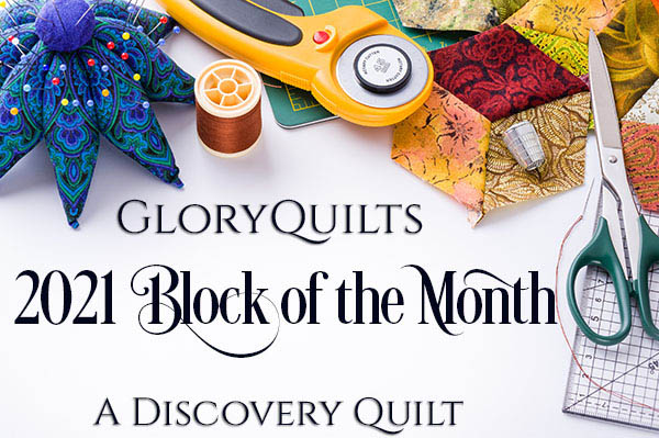 GloryQuilts Block of the Month Discovery Quilt - Cathe Swanson
